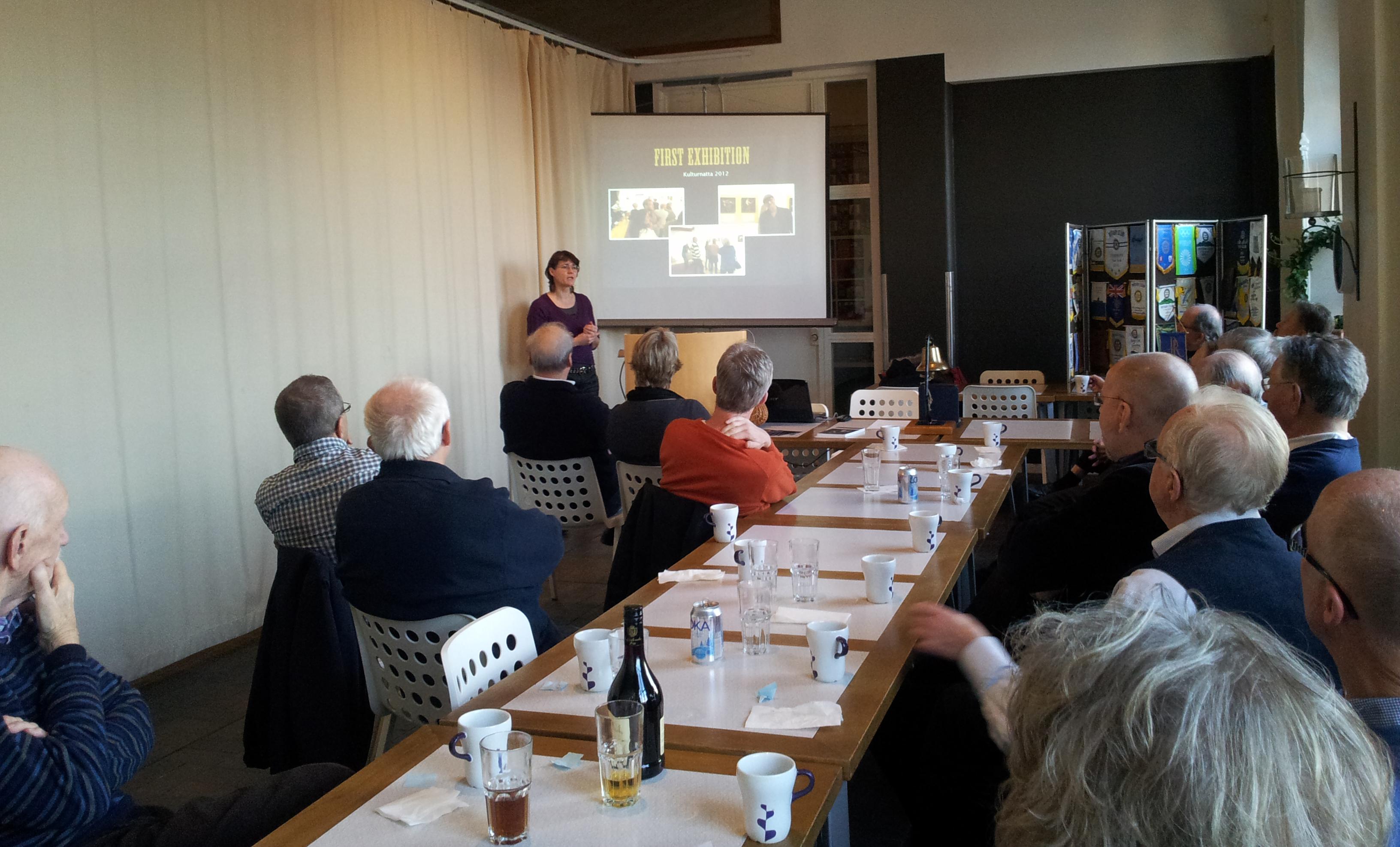föreläsning, presentation, Rotary, Partille, Just People