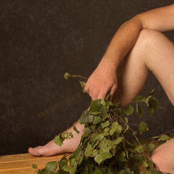 A leg, a foot, a hand, Birch leaves